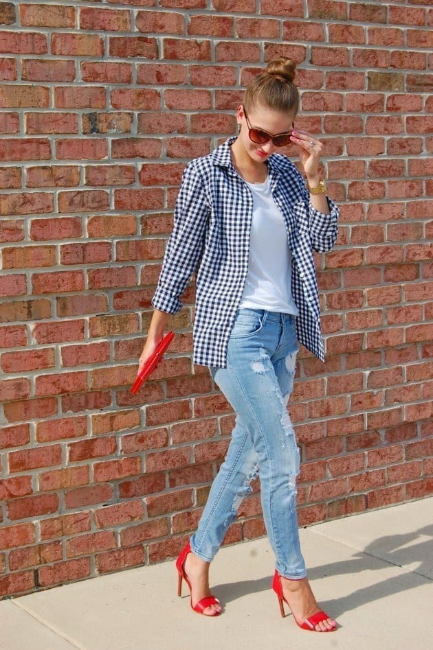 ladies gingham outfits (7)