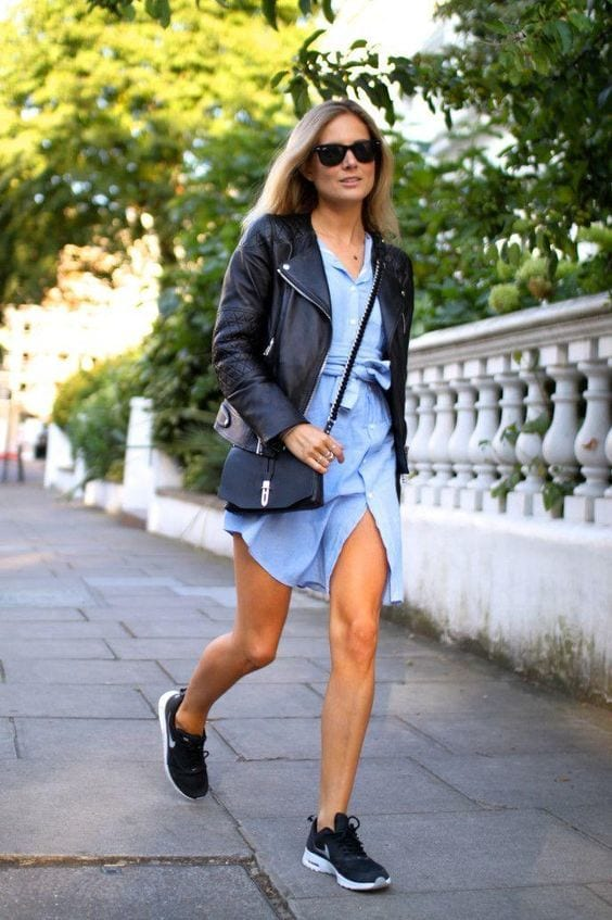 Stylish outfits to wear with Nike shoes (15)