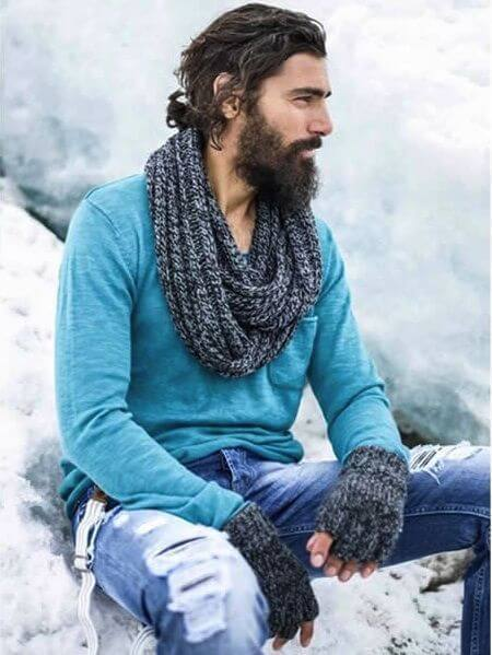 Smart and Cool hairstyles or men with beards (14)