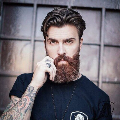 Smart and Cool hairstyles or men with beards (15)