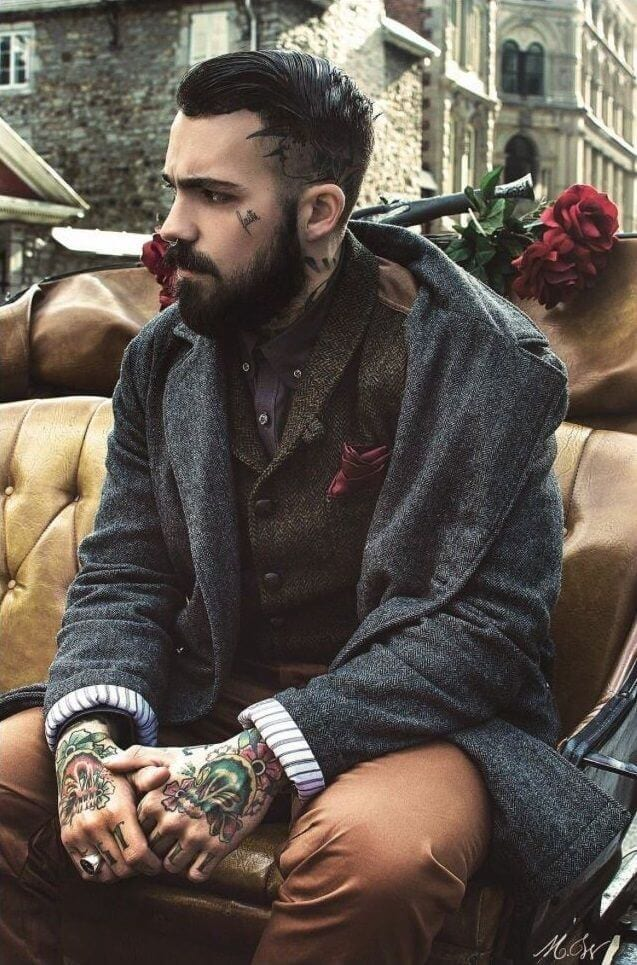 Smart and Cool hairstyles or men with beards (12)