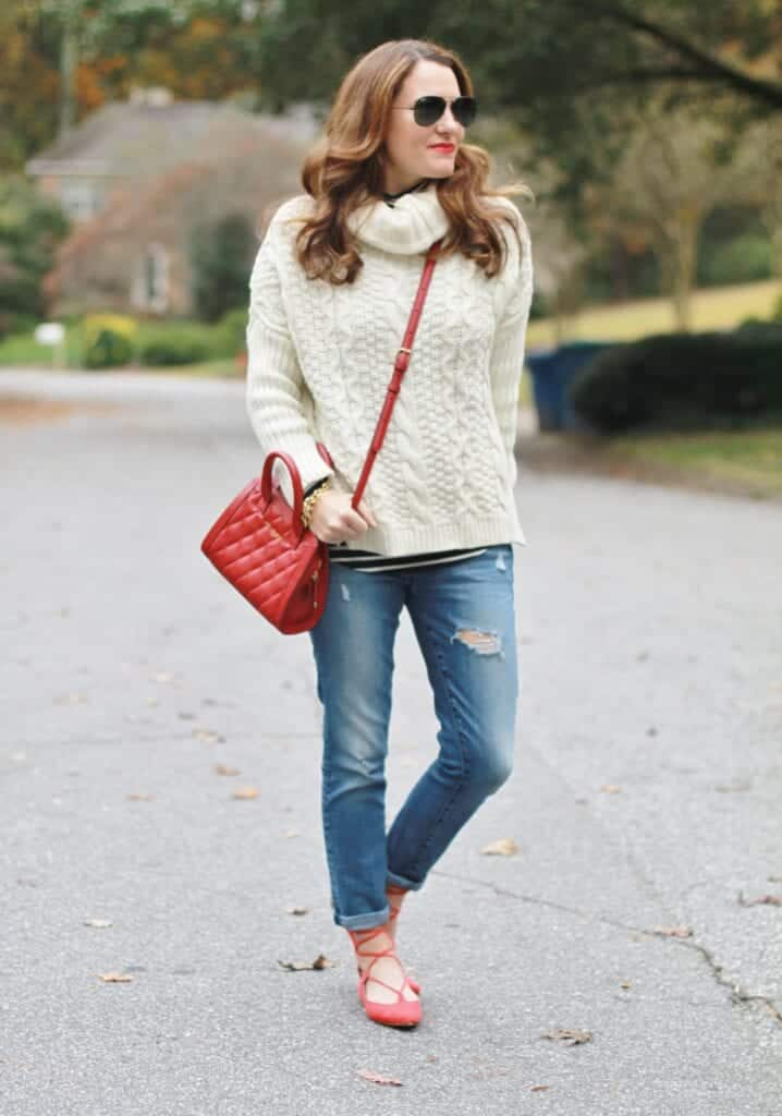 7aeac6fa8e7c 29 Cute Outfits with Lace Up Ballet Flats - How to wear