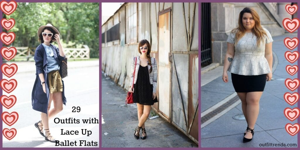 7b100323bc 29 Cute Outfits with Lace Up Ballet Flats - How to wear