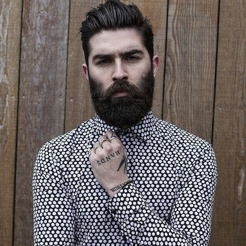 Smart and Cool hairstyles or men with beards (3)