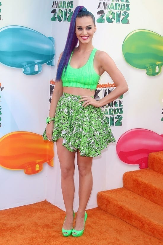 Katy Perry at The Nickelodeon's 25th Annual Kids' Choice Awards in LA