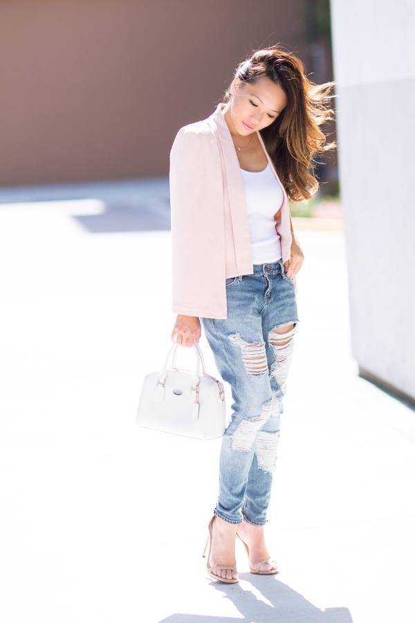 Outfits with Pale Pink Blazers- 19 Ways to Wear pink Blazers