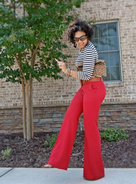 Stylish Outfits With Red Pants (12)