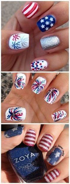 4th july nail art