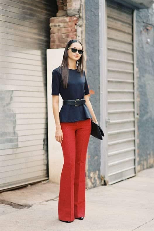 Stylish Outfits With Red Pants (15)