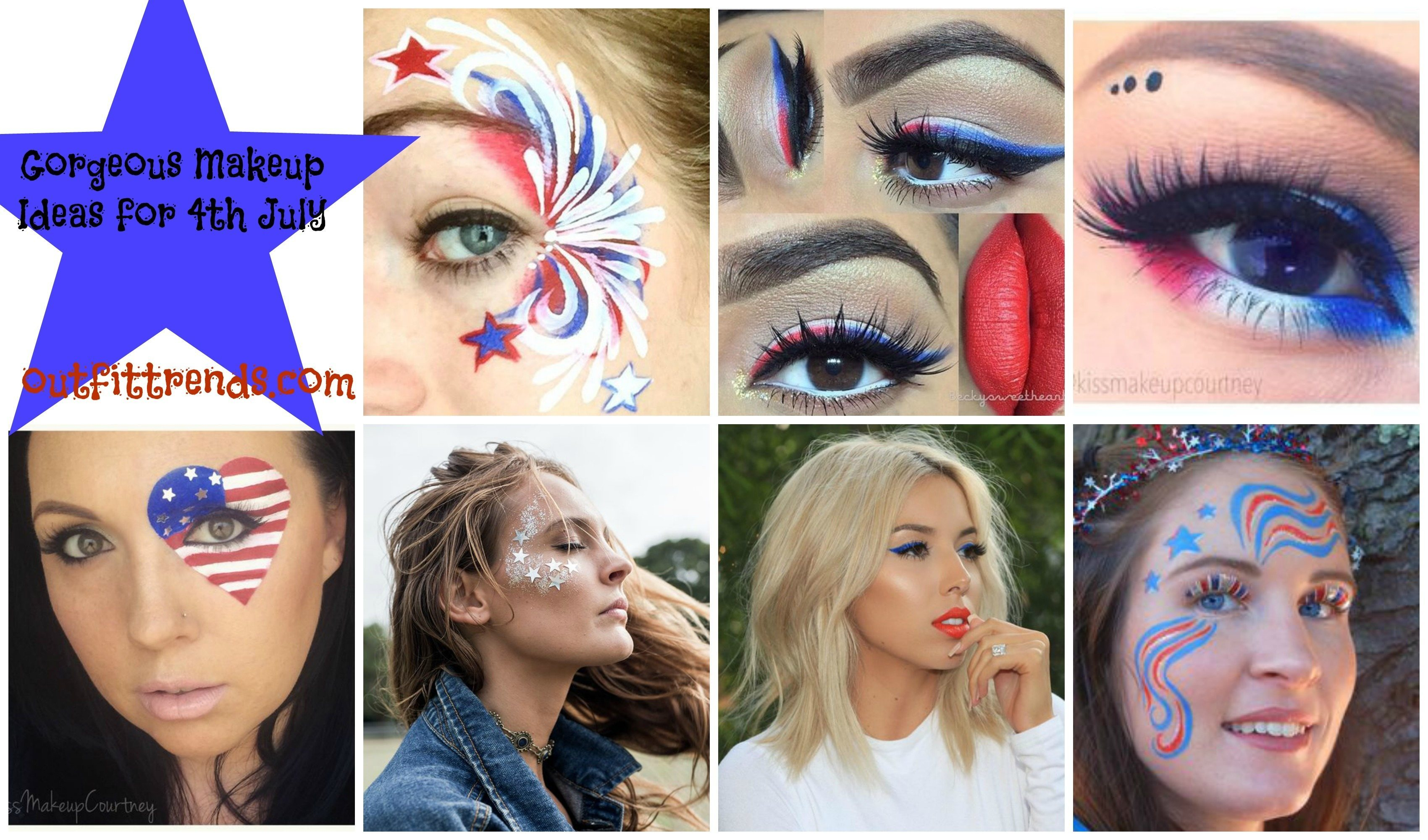 4th july makeup ideas
