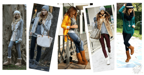 How to wear Shearling Boots - Ideas to wear Dresses with boots (16)