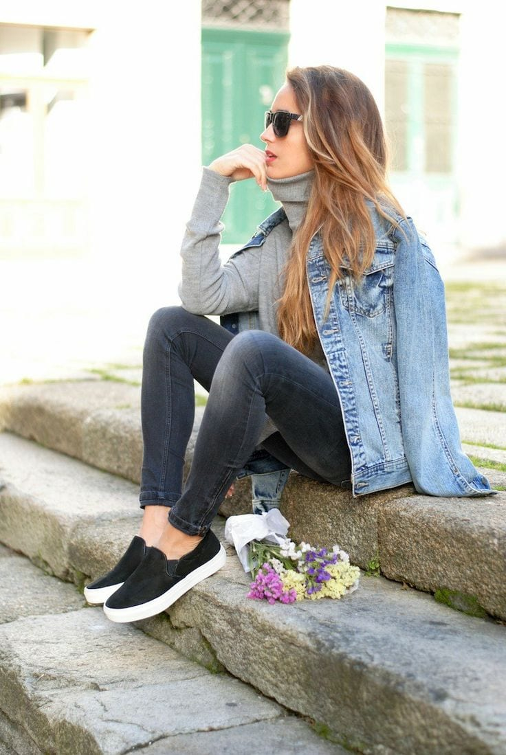 Cute Outfit Ideas To Wear With Slip-On Sneakers (2)
