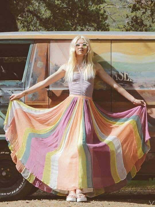 deas How to Wear Hippie Skirts. (3)