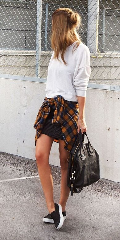 Cute Outfit Ideas To Wear With Slip-On Sneakers (18)