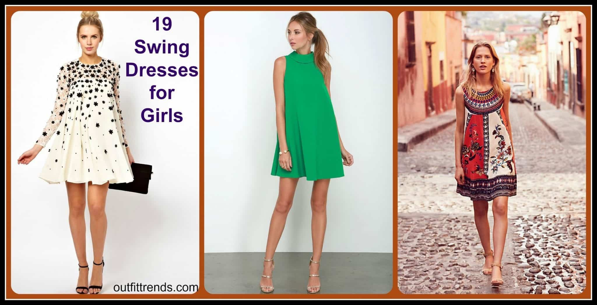 How To Wear A Swing Dress This Summer-19 Outfit Ideas