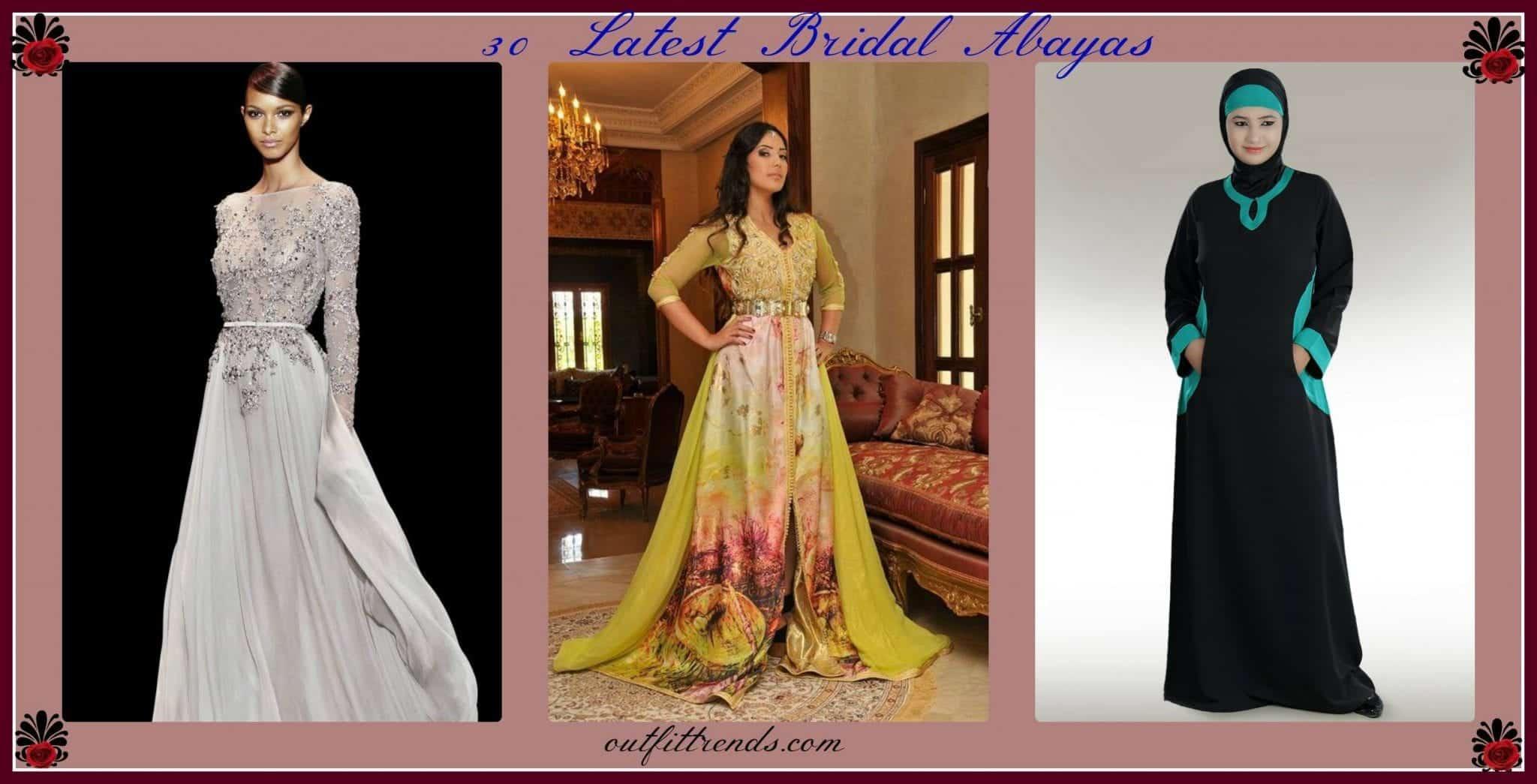 Wedding Abayas- 30 Latest Bridal Abaya Designs Trending Now