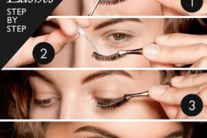 how to wear eye lashes