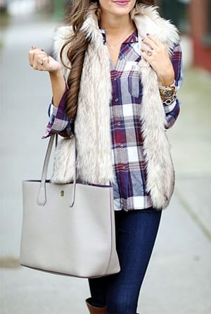 How to Wear Outfits with Faux Fur Coats (7)