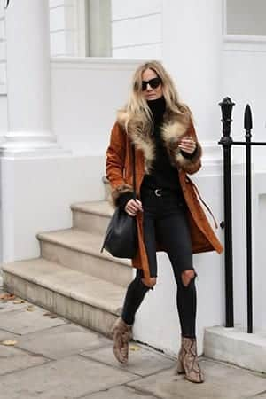 How to Wear Outfits with Faux Fur Coats (4)