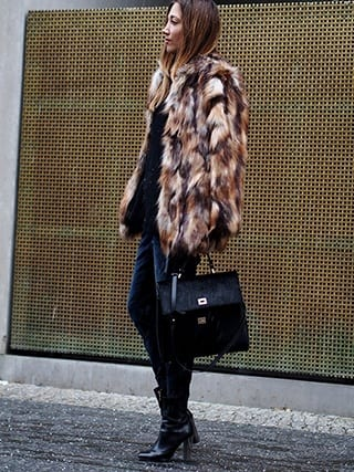 How to Wear Outfits with Faux Fur Coats (1)
