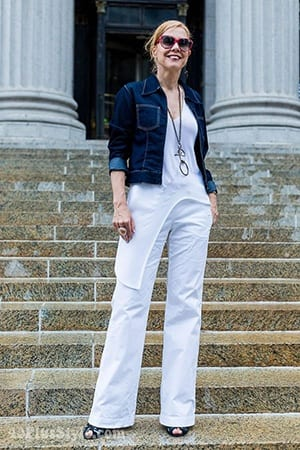 acc055af94a How to Wear White Wide Leg Pants-10 Outfit Ideas with Wide Pants