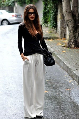 How to Wear White Wide Leg Pants (2)