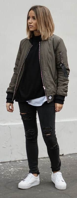 How to Wear Outfits With Bomber Jacket (26)