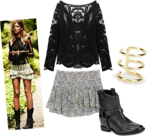 Ideas to wear Cowboy Boots (16)