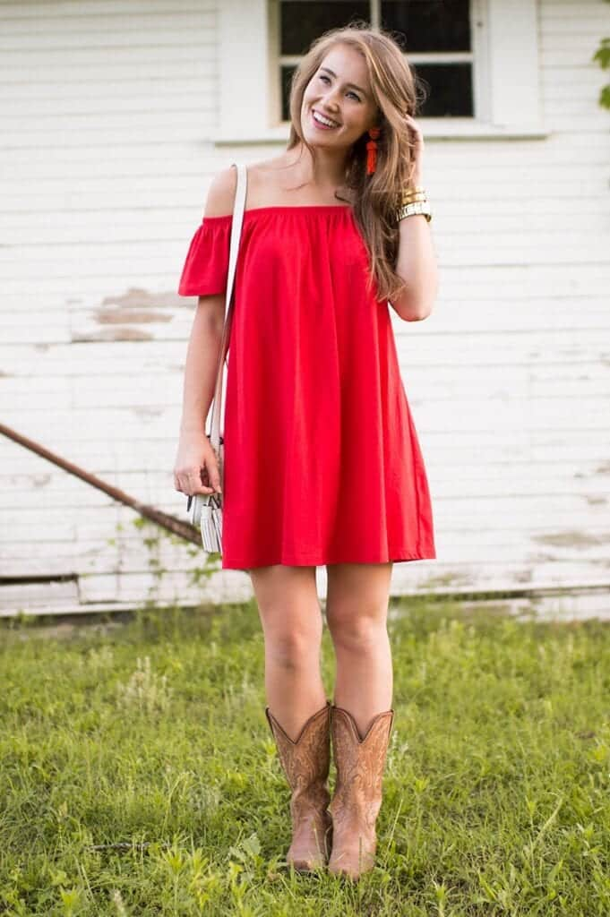4e2276e7c6d7fc Outfits with Cowboy Boots -19 Ways to Wear Cowboy Shoes