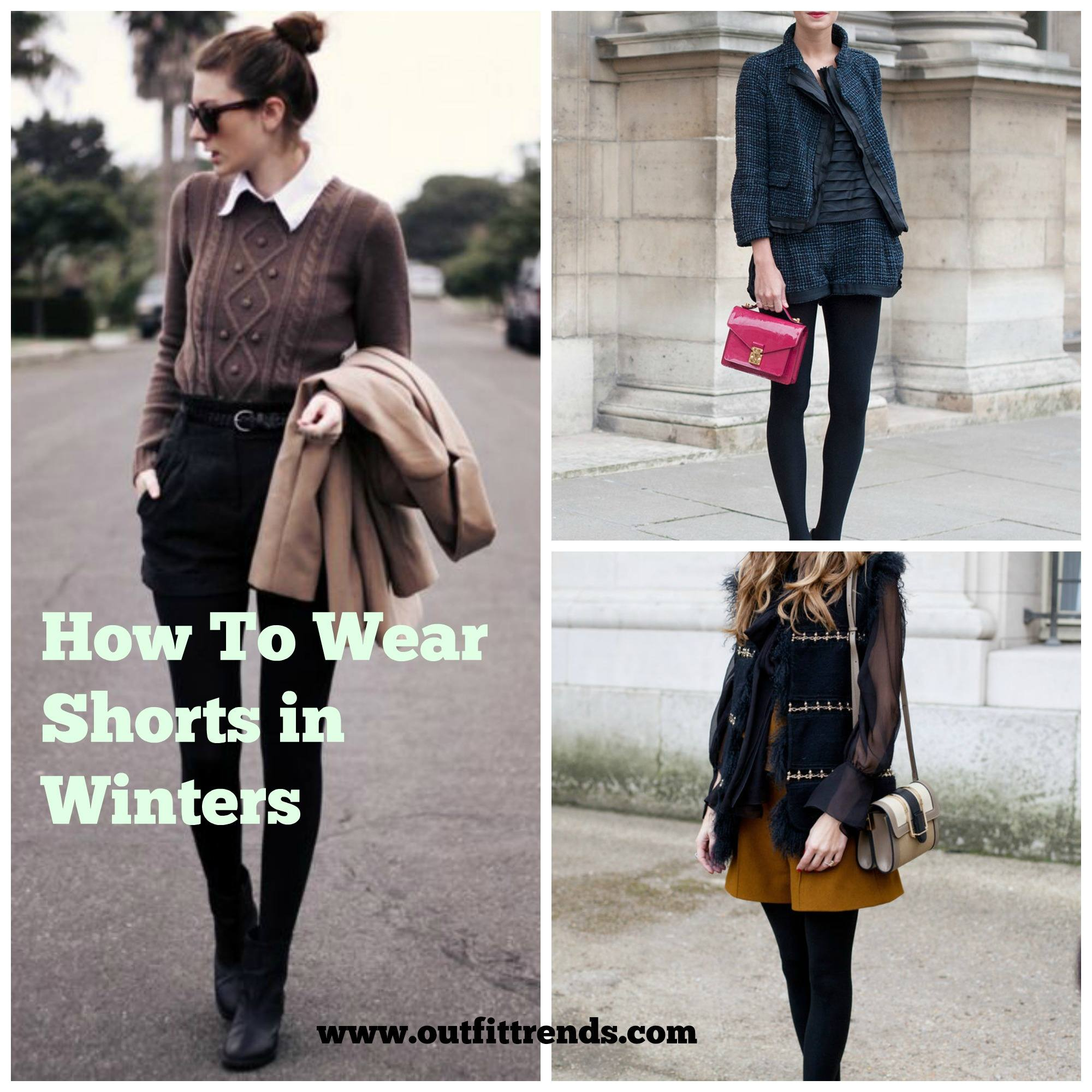 How to Wear Shorts in Winter – 20 winter Outfit with Shorts