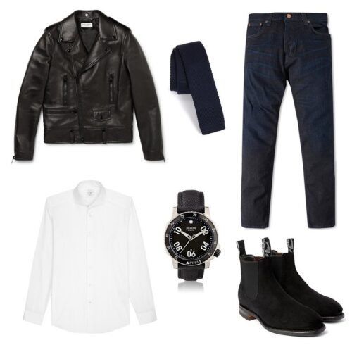 Ideas for Men to wear Leather Jackets (17)