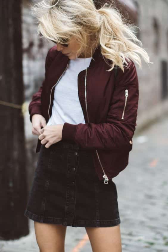 How to Wear Outfits With Bomber Jacket (23)