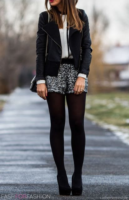 How to Wear Shorts in Winters (14)