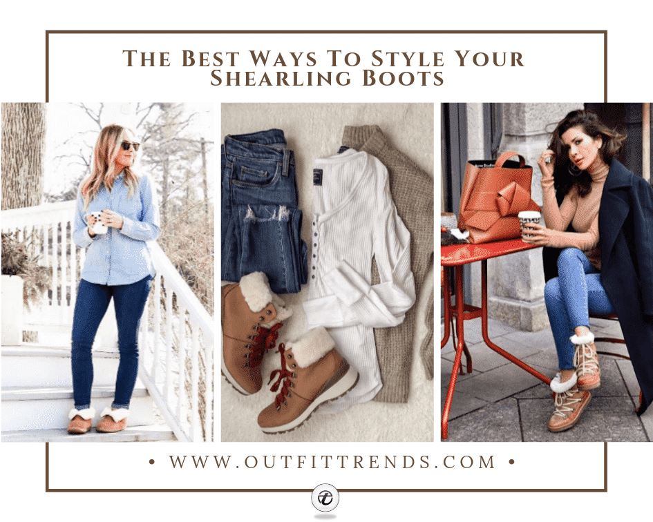 how to wear shearling boots