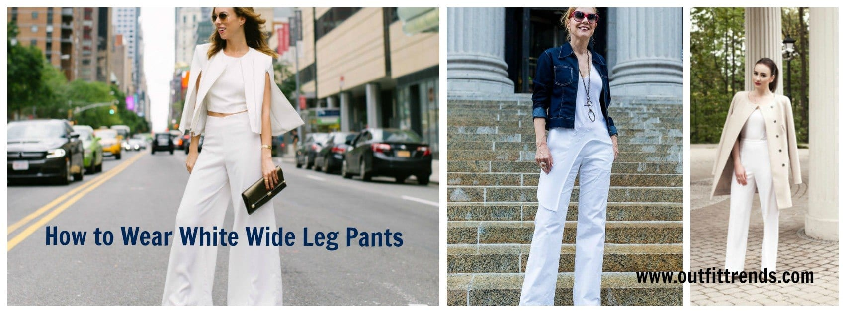 001963fc4c How to Wear White Wide Leg Pants – 10 Outfit Ideas with Wide Pants