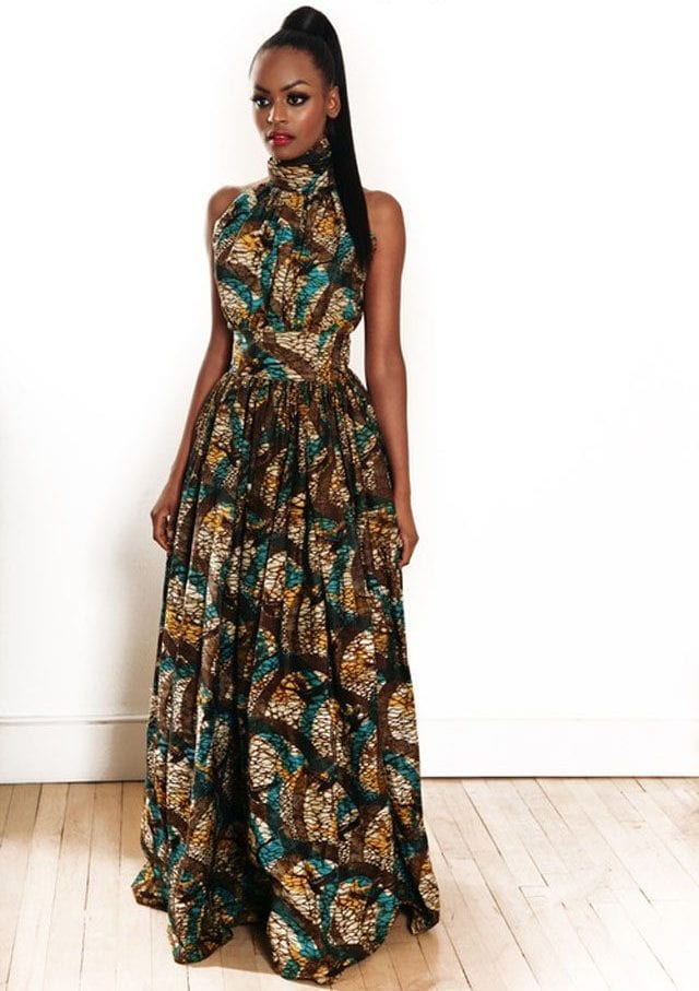 e7e595895 A sexy and slender Kitenge design for fancy parties and occasions. The high  ponytail hairstyle is a matching pitch.