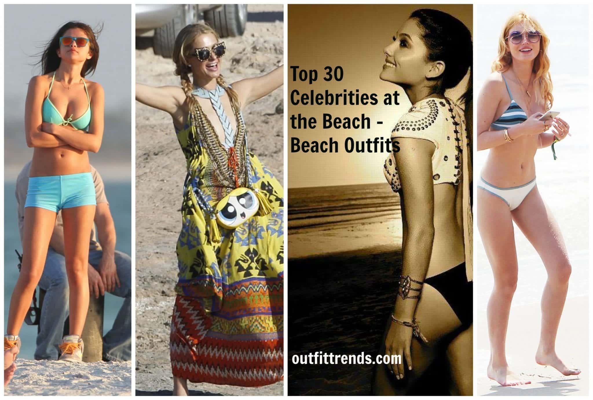 Hollywood Celebrities Beach Outfits-30 Top Celebs in Beachwear