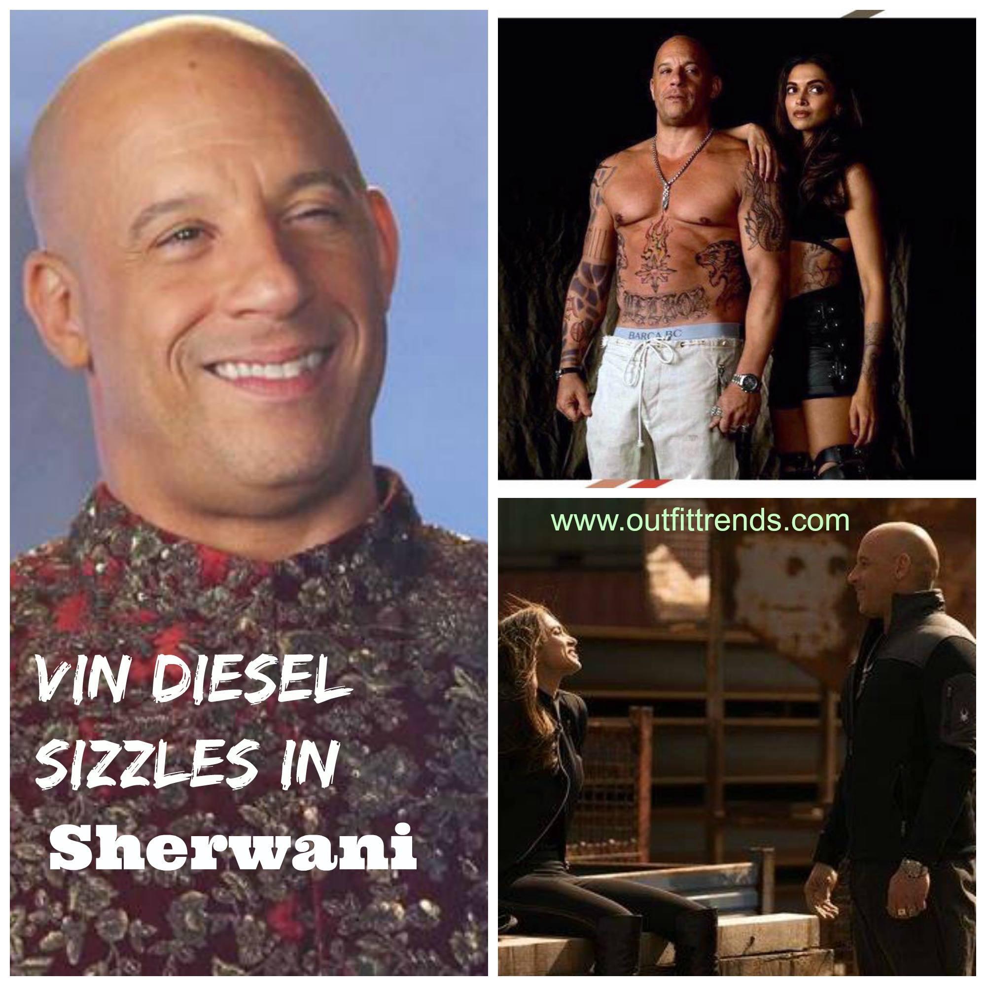 Vin Diesel in Sherwani-Pictures of Deepika and Vin Wearing Sherwani