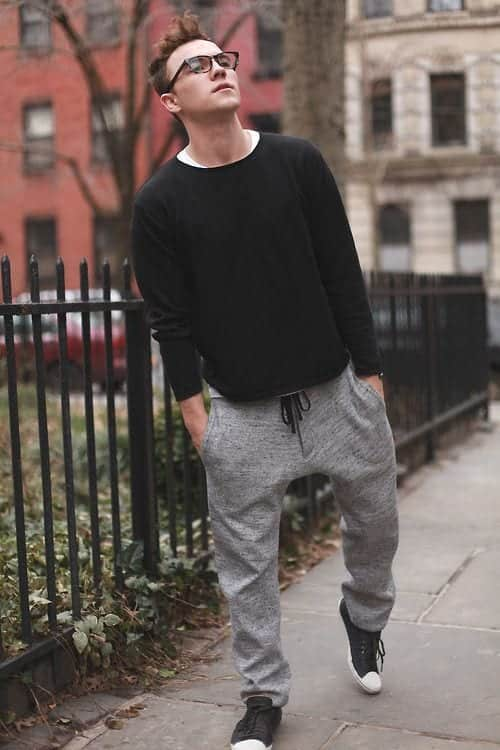 How to wear Sweatpants and Joggers for Men (3)