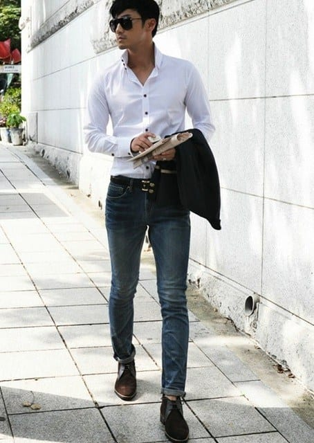 Mens Fashion Dress Shirt With Jeans