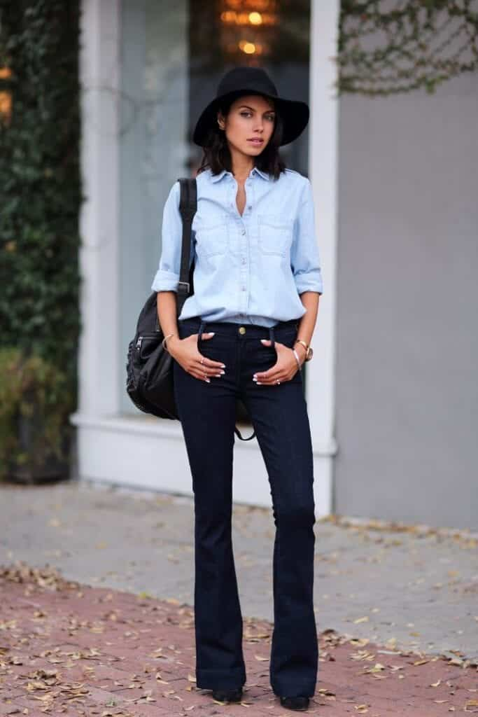 Ideas to wear Bootcut jeans with style (18)