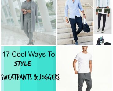 Men sweatpants and joggers style
