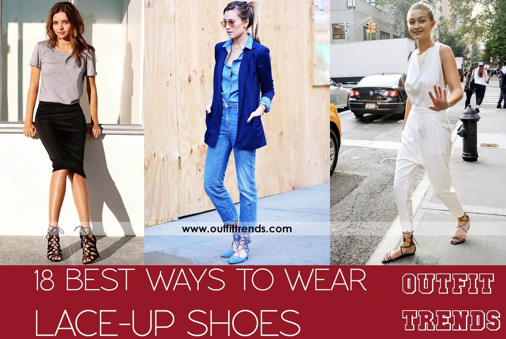 Outfits with Lace-up Shoes – 18 Ways to Wear Lace-up Shoes