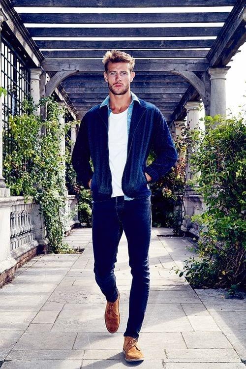 Light Blue Denim Jeans Mens