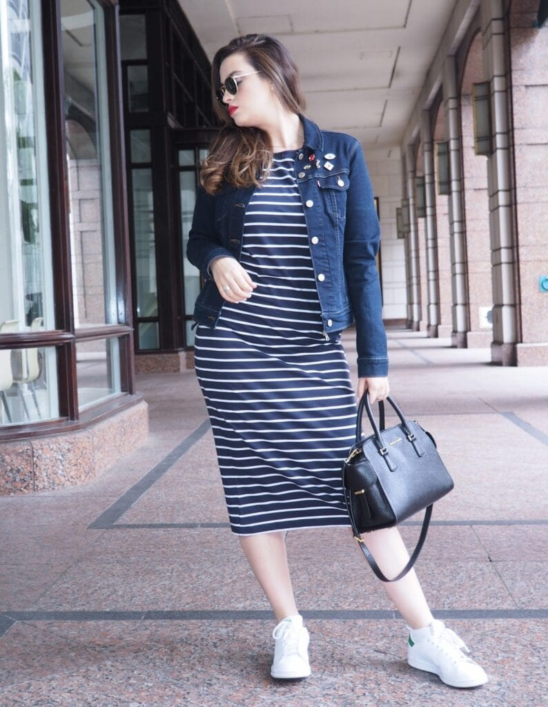 how to wear nike sneakers with dress