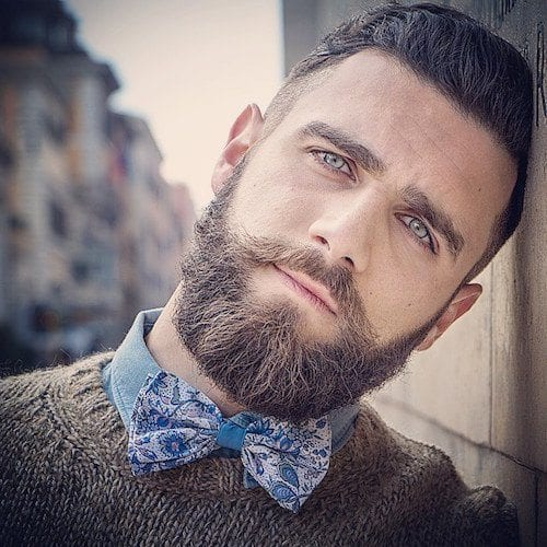 Indian beard style for round face
