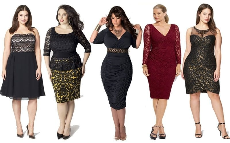 2019 Christmas Outfits for Plus size women - 23 Party Wear