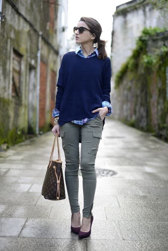 Cargo pants outfits for women (4)