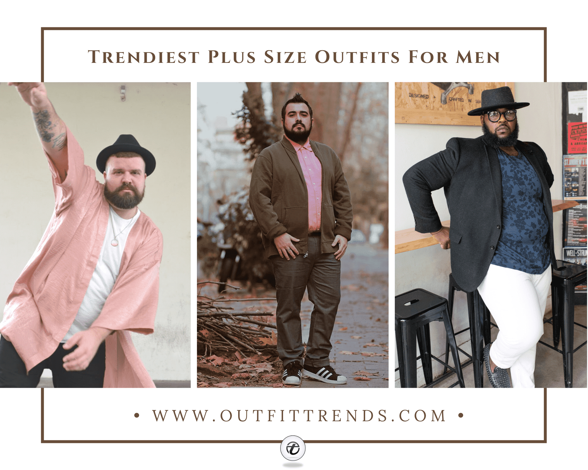 Outfits for Plus Size Guys–26 Best Styles & Tips for Big Men