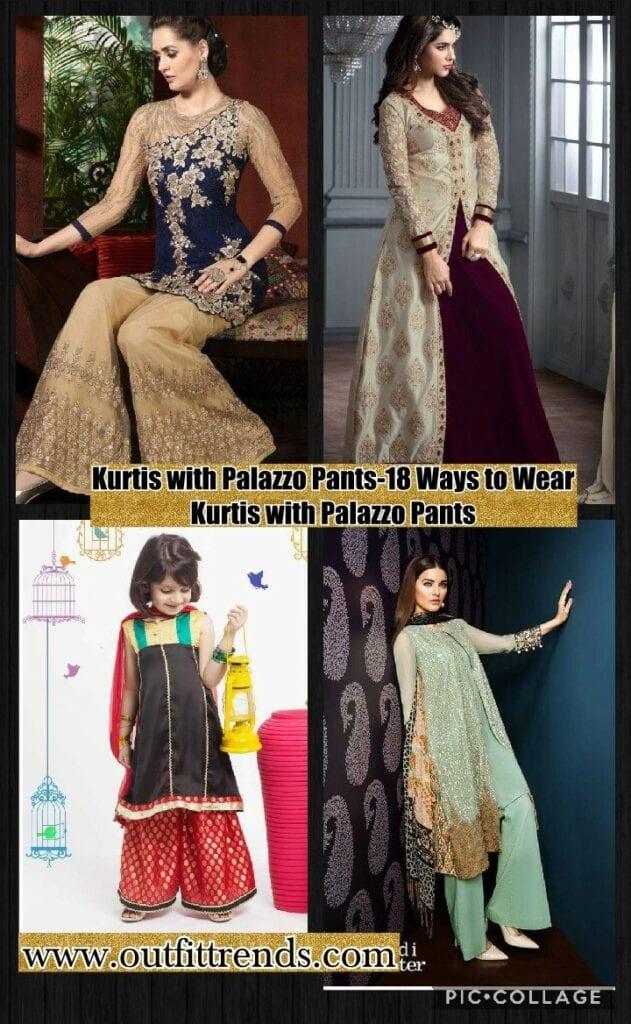 Kurtis With Palazzo Pants 18 Ways To Wear Palazzo With Kurtis